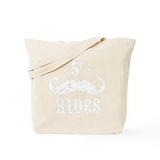Mustache Rides 5 Cents VINTAGE White Tote Bag