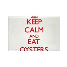 Keep calm and eat Oysters Magnets