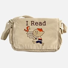 Boy I Read Messenger Bag