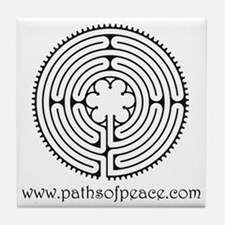 Paths of Peace Chartres Essence Tile Coaster