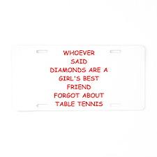 TABLE2 Aluminum License Plate