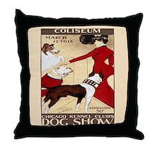 Vintage Dog Show Throw Pillow