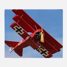The Red Baron Flies 1 Throw Blanket