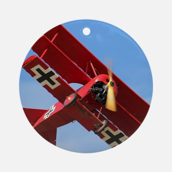 The Red Baron Flies 1 Round Ornament