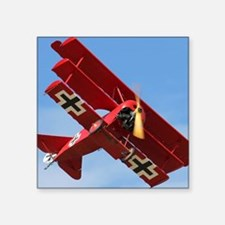 "The Red Baron Flies 1 Square Sticker 3"" x 3"""