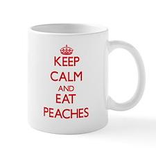Keep calm and eat Peaches Mugs