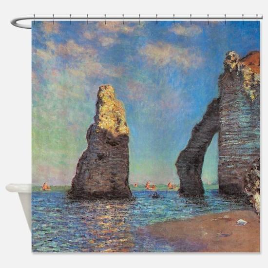 Etretat Cliffs By Monet Shower Curtain