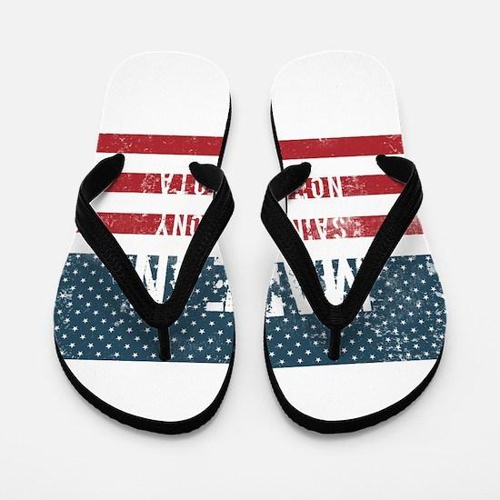 Made in Saint Anthony, North Dakota Flip Flops