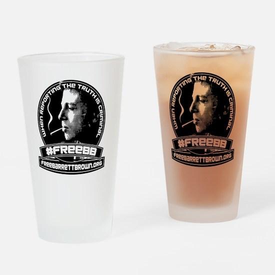 FreeBBshirtfront Drinking Glass
