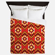 Native American Design Fire Queen Duvet