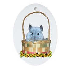 Easter Chin Oval Ornament