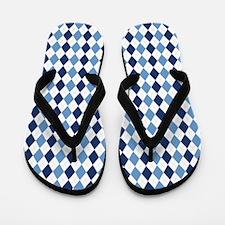 UNC Argyle Carolina Blue Tarheel Flip Flops