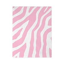 Pink White Zebra Pattern Twin Duvet