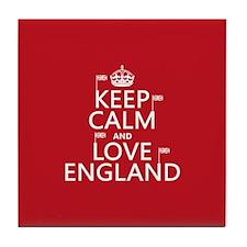 Keep Calm and Love England Tile Coaster