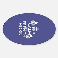 Keep Calm and Play French Horn Decal