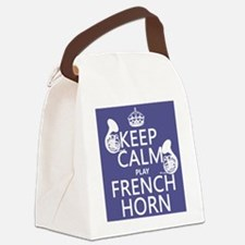 Keep Calm and Play French Horn Canvas Lunch Bag
