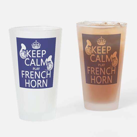 Keep Calm and Play French Horn Drinking Glass
