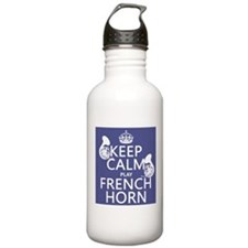 Keep Calm and Play French Horn Sports Water Bottle