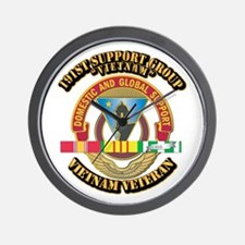 Army - 191st Support Group w SVC Ribbon Wall Clock