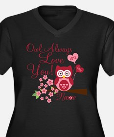 Owl Always Love You Women's Plus Size V-Neck Dark