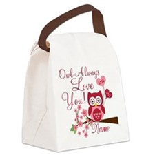 Owl Always Love You Canvas Lunch Bag