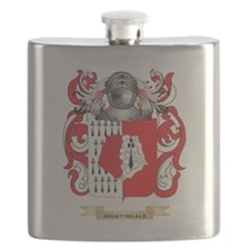 Nightingale Coat of Arms (Family Crest) Flask