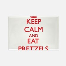 Keep calm and eat Pretzels Magnets