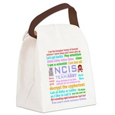 NCIS Abby Quotes Canvas Lunch Bag