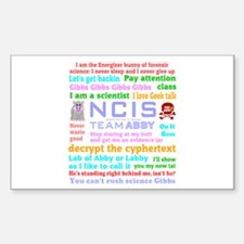NCIS Abby Quotes Decal