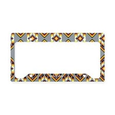 Native American Design Smoke License Plate Holder