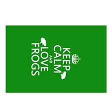 Keep Calm and Love Frogs Postcards (Package of 8)