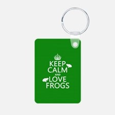 Keep Calm and Love Frogs Keychains