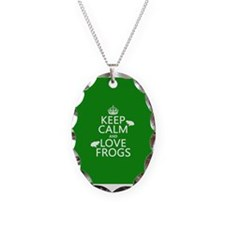 Keep Calm and Love Frogs Necklace