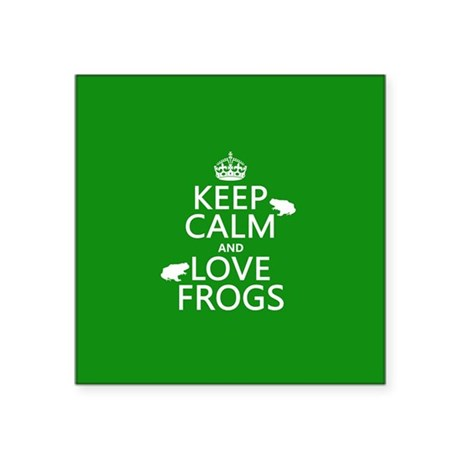 Keep Calm and Love Frogs Sticker