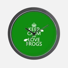 Keep Calm and Love Frogs Wall Clock