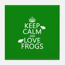 Keep Calm and Love Frogs Tile Coaster