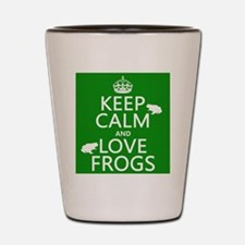 Keep Calm and Love Frogs Shot Glass