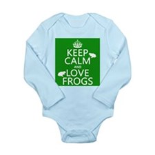 Keep Calm and Love Frogs Body Suit
