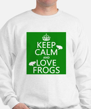 Keep Calm and Love Frogs Jumper