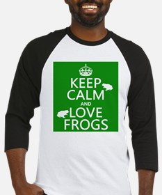Keep Calm and Love Frogs Baseball Jersey