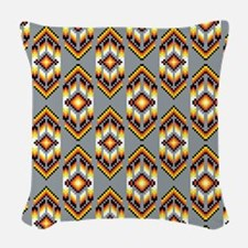 Native American Design Smoke Woven Throw Pillow