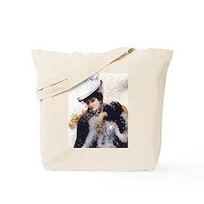 Vintage Winter Bride Tote Bag