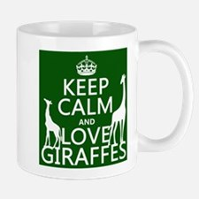 Keep Calm and Love Giraffes Mugs