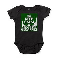Keep Calm and Love Giraffes Baby Bodysuit