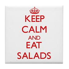Keep calm and eat Salads Tile Coaster