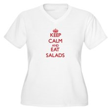 Keep calm and eat Salads Plus Size T-Shirt