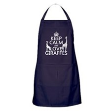 Keep Calm and Love Giraffes Apron (dark)