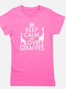 Keep Calm and Love Giraffes Girl's Tee