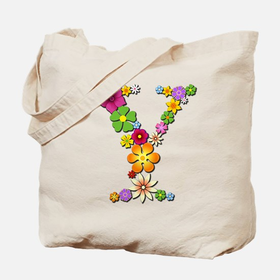 Y Bright Flowers Tote Bag