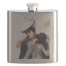 Vintage Winter Bride Flask